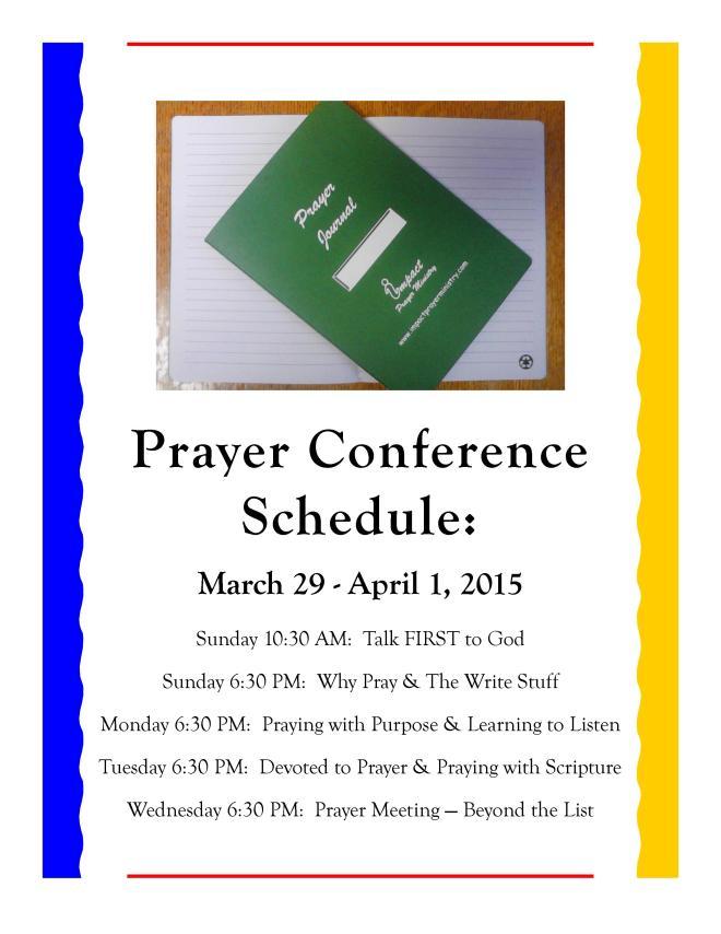 Prayer conference schedule